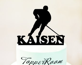 Hockey player cake topper,Hockey cake topper,Hockey birthday cake topper, sports cake topper, Hockey party cake topper (1059)