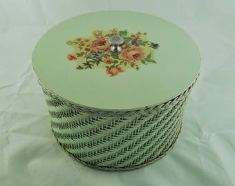 Vintage Harvey Basket Co Wicker Sewing Basket