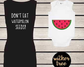 Mum and Baby Set - Watermelon Seeds