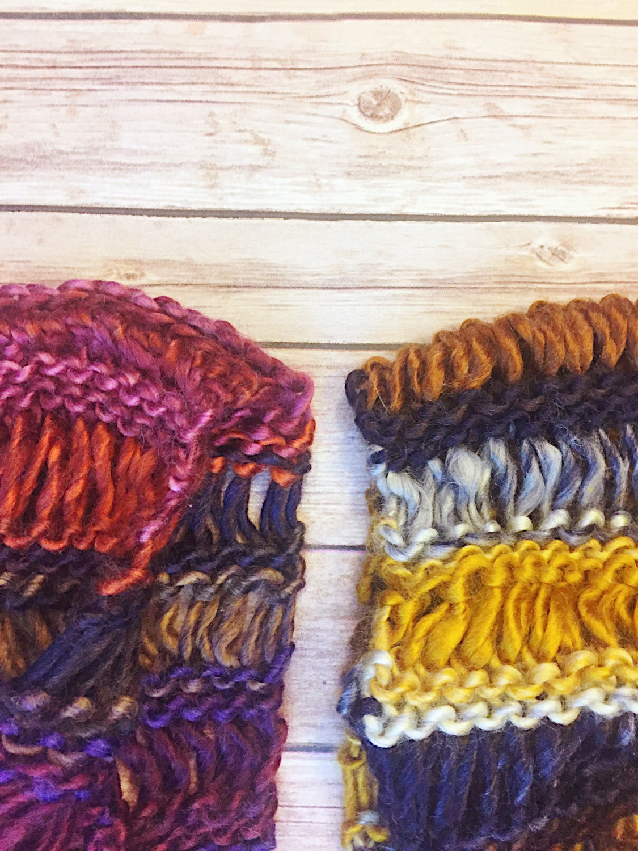 Infinity Scarf - chunky scarf, jewel tones, mobius cowl, knit scarf ...
