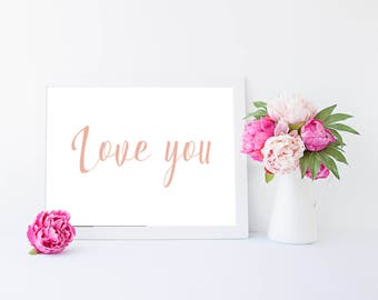 Love you  wall art home decor Print (landscape)