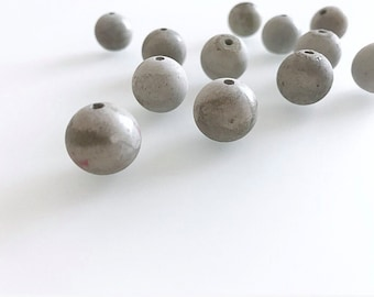 Handmade Concrete Beads 4 pcs (ball)-Handmade concrete Beads 4 pcs. (Sphere)
