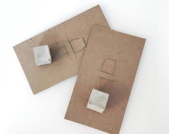 """""""Square"""" (16mm) - concrete Stitchmarker concrete marker """"Square"""" (16mm)"""