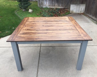 Square Farmhouse Dining Table (5ft x 5ft)
