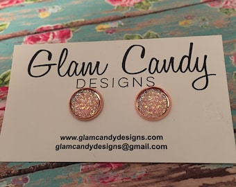 12 MM Rose Gold, with Rose Gold Studs