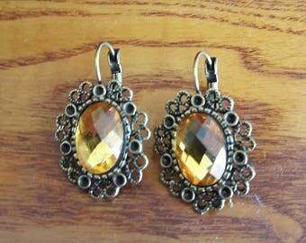 Antique Bronze Clip On Earrings