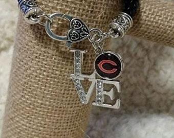 Chicago Bears LOVE bracelet