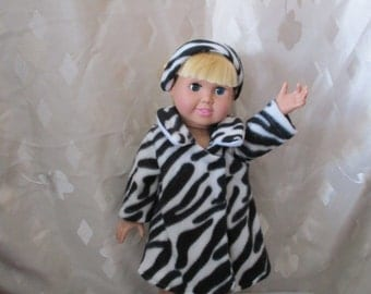 Doll coat and headband for 18-inch doll