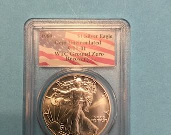 PCGS Ground Zero 1989 Silver Eagle