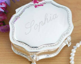 Personalized Princess Jewelry box Custom Name Gift
