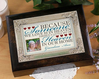 Personalized Music Box Memorial Custom Name Gift