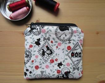 Alice in Wonderland theme fabric coin purse