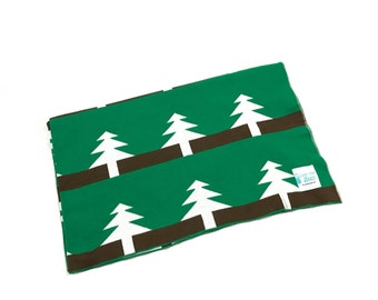 Reversible Knitted Cotton Blanket/Throw - Tree