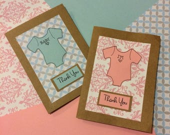 Baby Shower Thank You Cards (set of 10)