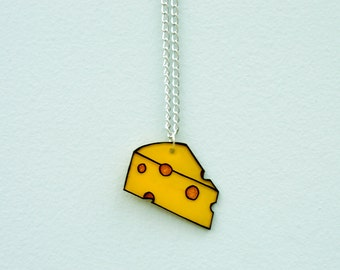 Cheese Pendant Necklace