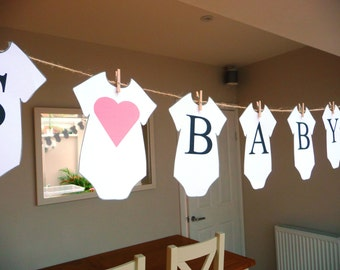 Personalised Babyshower babygro banner/bunting