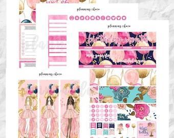 Birthday Month printable planner stickers /EC monthly kit / ECLP / pdf, jpg, cut files