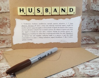 Husband gift, Gift for husband, Husband, Husband birthday, For husband, Wife to husband gift, Husband anniversary, Card for husband,