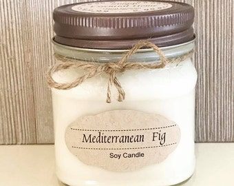 Mediterranean Fig Candle / Soy Candle / Scented Candle