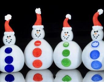 Glass Snowman! Handmade & Blown in Corning, NY. Steuben County