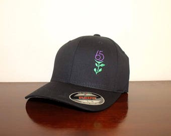 "Unisex Custom Embroidered Hat with ""Cystic Fibrosis (65 Roses Symbol)"""