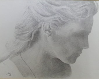 Peaceful Pencil portrait of Connie Nielsen