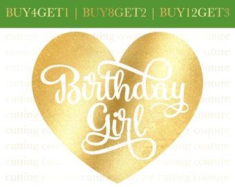 Birthday Svg Cutting File Birthday Girl Svg File Silhouette Cutting File Cricut Cutting File