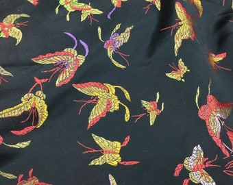 Butterflies of silk fabric