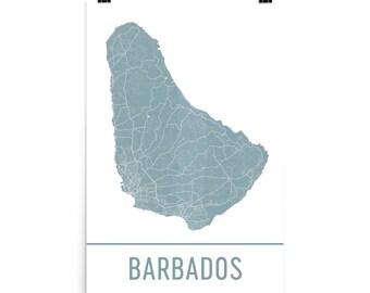 Barbados Map, Barbados Art, Barbados Print, Barbados Poster, Barbados Wall Art, Map of Barbados, Barbados Gift, Barbados Decor, Map Art