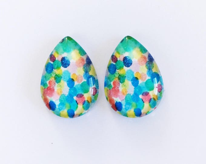 The 'Kady' Glass Statement Studs