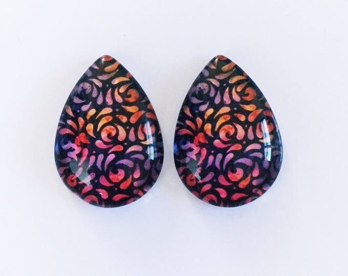 The 'Sydney' Statement Glass Earring Studs