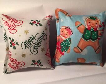 2 - Christmas catnip pillows