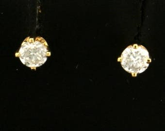 Diamond Stud Earrings .20ct TW