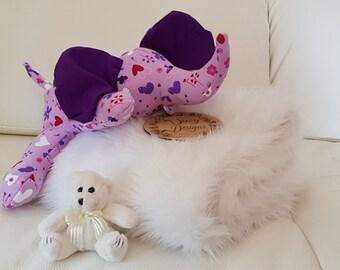 Purple soft snuggly Elephant
