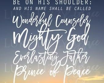 Scripture Print Isaiah 9:6