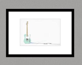 Fender Telecaster art print, Fine Art print, guitart print, photographic print, photographic illustration, art print, wall art,  photography