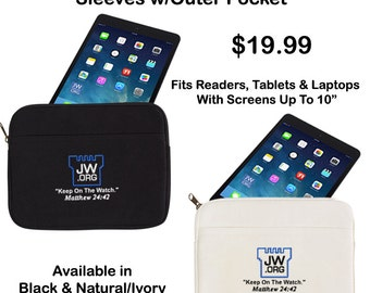 """10"""" Canvas Reader, Tablet & Laptop Sleeves/Cases, JW.Org, Jehovah's Witness"""