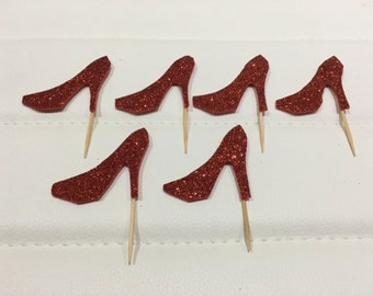Shoes cupcakes toppers set of 12