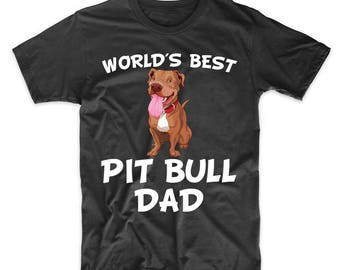 World's Best Pit Bull Dad Dog Owner T-Shirt