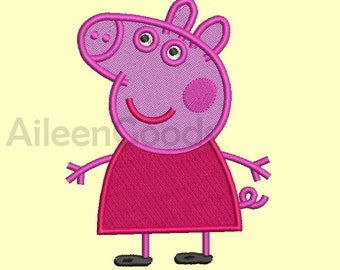 Peppa Pig Embroidery  design 10 Size INSTANT download machine embroidery