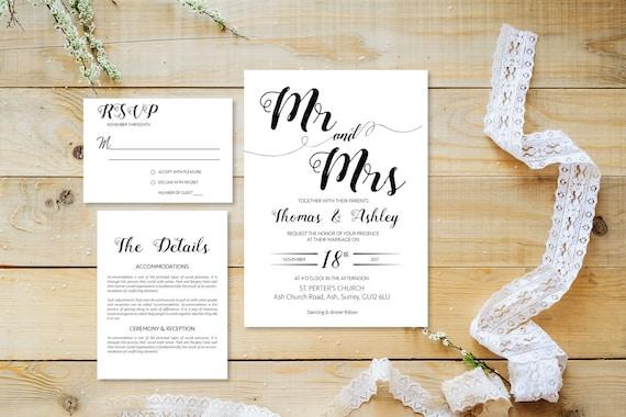 Elegant wedding invite_7,Printable Wedding Invitation Suite,Wedding Invite Set,Wedding Printable,Calligraphy