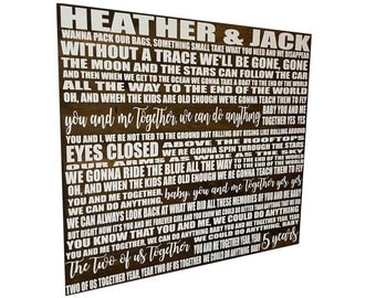 Lyrics//Wedding Song//Wooden Sign//Customized//Two of Us Together//Inspirational//Dave Matthews//DMB//I Love You//Anniversary//Dave Matthews