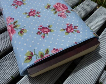 Floral Book Sleeve, roses fabric, Small Medium Book Sleeve, Book Lover Gift, Book Pouch, Paperback Cover, Book case, Book Protector