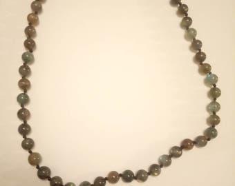 Beautiful Vintage Beaded Jade Necklace
