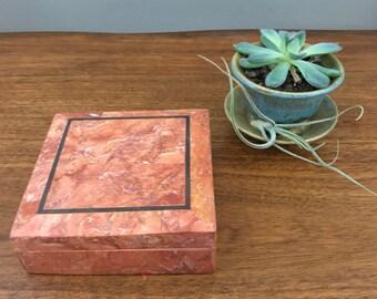 Red Marble Keepsake Box