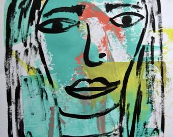 I LIKE YOU - original abstract portrait