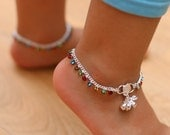 Stunning Diamante Anklet Ankle Chain Indian payal Bollywood kids Payal Pair