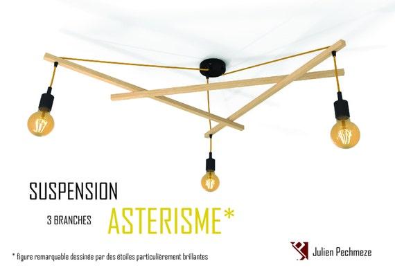 suspension minimaliste asterisme 3 ampoules. Black Bedroom Furniture Sets. Home Design Ideas