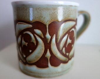 Kiln Craft (English Staffordshire Pottery) Art Nouveau-style mug