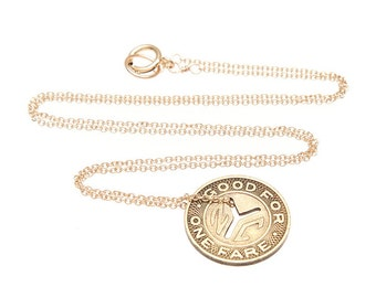 Vintage NYC Subway Token Necklace